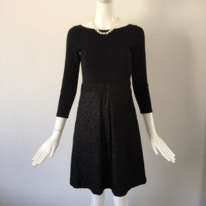 Theory black A line dress